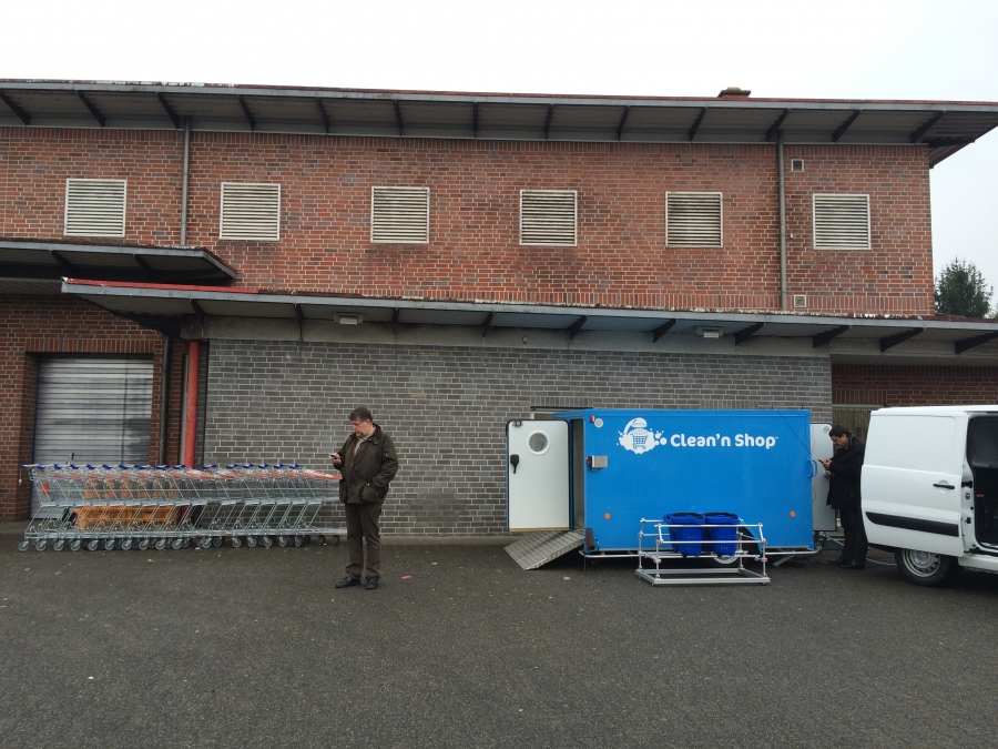 CNSE Customized solutions Unit for washing trolleys