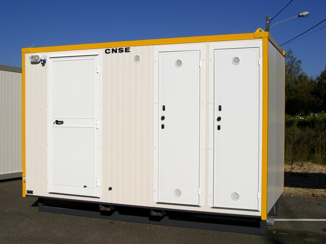 Restroom container sanitary solutions jobsite portable - Shipping container public bathroom ...